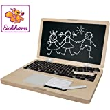 Eichhorn 100002575 – trä dator, skärmyta för beskrivning med virvel – tangentbord bestående av 6 krida – 32 x 20 cm