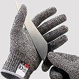 Schnittschutzhandschuhe - Schnittschutzklasse Level 5 für Küche / Baustelle / Gartenbau /...
