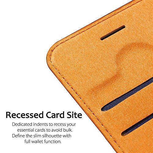 iPhone 7Fall, Belk [Einfache Retro] Premium PU Leder Ultra Slim Folio Flip Cover Fall für Apple iPhone 711,9cm, spezielle Einbauleuchte Kartenfächer vermeiden Bulk schwarz schwarz schwarz