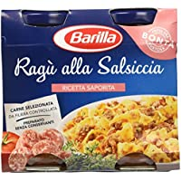 Barilla - Ragù alla Salsiccia, Ricetta Saporita, Carne Selezionata da Filiera Controllata - 3 confezioni da 2 pezzi da 180 g [6 pezzi, 1080 g]