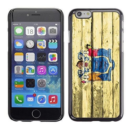 FJCases New Jersey The Garden State Holzmuster Flagge Harte Hülle Schutzhülle Tasche für Apple iPhone 7 / iPhone 8