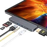 dodocool HUB USB C per iPad Pro 2020/2018, Adattatore HUB 6 in 1 con 4k HDMI, 100W PD, USB 3.0, Jack Audio 3.5 mm, SD/MicroSD