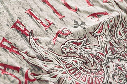 Affliction T-Shirt Tried Attack Rev. Hellgrau/Schwarz Grau