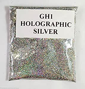 (GH1 - HOLOGRAPHIC SILVER 100g) GLITTER NAIL ART COSMETIC CRAFT FLORIST WINE GLASS GLITTER TATTOO