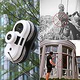Alfawise S60 Robot Limpiacristales Automático Robot Limpiavidrios, Limpiador de Ventanas con Cuerda de Seguridad (Blanco)