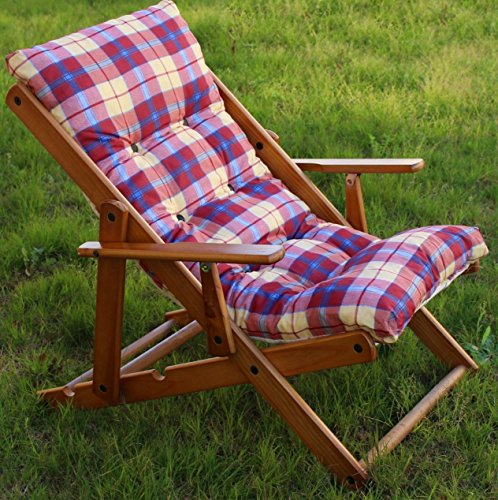 Coussins Coussin rembourré de rechange pour fauteuil chaise longue relax tissu polycoton