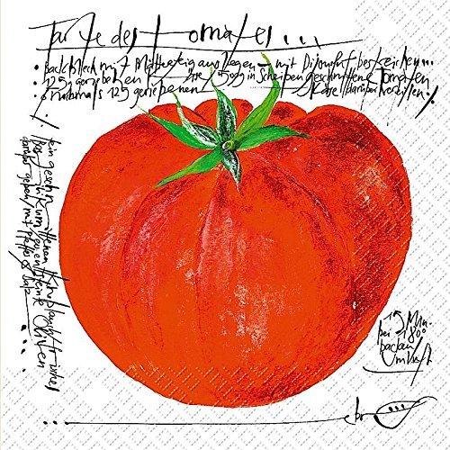 (TOM Tomate Design 3-lagig bedruckt Papier Serviette Stewo/20pack–33x 33cm)