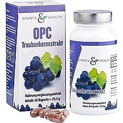 OPC Kapseln Hochdosiert - Mit Zertifikat - OHNE Künstliches Vitamin C - 335mg Traubenkernextrakt - 250mg Reines OPC Pro Vegetarischer Kapsel - 2 Monatsvorrat - Made in Germany!