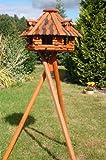Deko-Shop-Hannusch Nichoir à oiseau sur pieds en bois enduit