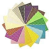Runde Punktaufkleber,Farbetiketten 25mm Dot Klebepunkte 16 Farben/Blatt Farbkodierung Etikette 600 Stück Markierungspunkte