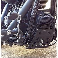 Farbe:schwarz Iron Optics Motorrad /Öl-//K/ühlerabdeckung f/ür Harley Davidson Softail Modelle ab 2018//107