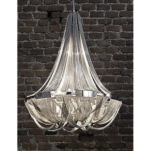 Flujo de aluminio ZSQ candelabros, E12/E14/Diseñador/luces colgantes de plata o de oro/Salón/ , inoxidable 220-240 v-plata