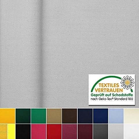 OEKO-TEX® Tela de algodón con ligamento de sarga - Lavable, no se destiñe y duradero - Por metro (Gris