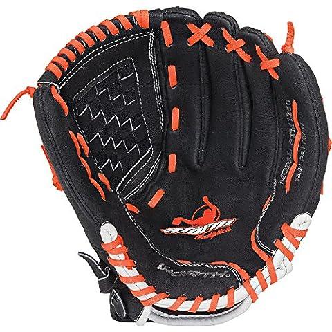 Worth Storm 12,5 inch Youth Fastpitch Softball Glove - 12,5 inch - black/orange (Infielders Glove)