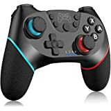 TUTUO Controller Wireless per Nintendo Switch, Bluetooth Switch PRO Controller Gamepad Joystick Supporta Turbo, 6-Axis Gyro,