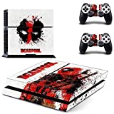 Deadpool Sony Playstation 4 Skin Sticker Vinyl Stickers for PS4 Console x1 Controller Skins x2