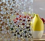 DODOING 3D Kieselsteine Sichtschutzfolie Milchglasfolie Fenster Folie selbstklebend,45x100cm