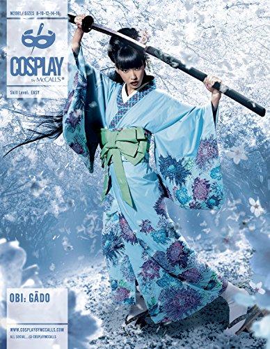 Cosplay von McCall \'s Obi GAGO Kimono/Unterhemd mit abgesetztem Ärmeln und OBIS, Mehrfarbig, Größen 16-24