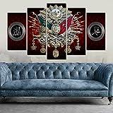 Osmanli Devlet Armali Allah.cc ve Hz. Muhammed Temali Kanvas Tablo Wandbild