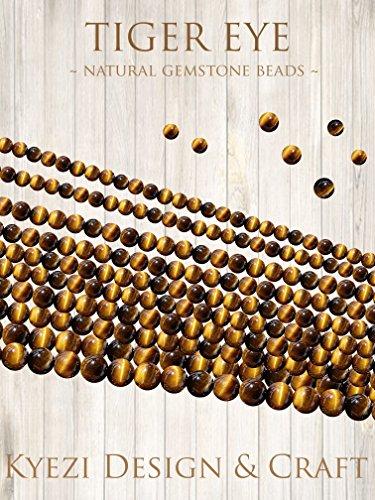 Natürliche Edelsteine, runde Perlen, Heilkraft, Kristall, Energiestein, voller Strang zur Schmuckherstellung [Kyezi Design and Craft] 4mm Yellow Tiger Eye
