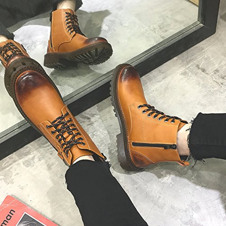 HL-PYL-Martin Botas de moda botas altas botas botas para utillajes Retro,41,amarillo