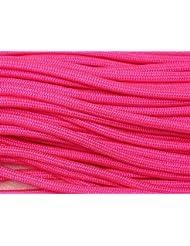 Pepperlonely 100FT Tipo III neón rosa Paracord 550–Cuerda de paracaídas, 7hilos fabricadas en Estados Unidos
