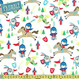 Timeless treasures knights horses cream sewing fabric for Frumble fabrics