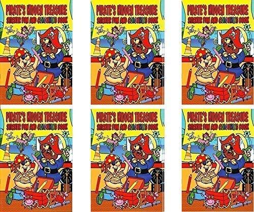 W F Graham 6 Gelb A4 Pirates Schiff Sticker Fun & Malbuch Kinder Aktivitäten - Graham Spa