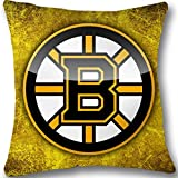 B Printed Gold Colorful Custom Zippered Pillow Cases 18x18 (Twin sides) LL-75
