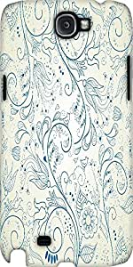 Snoogg Floral Hand Drawn Background Designer Protective Back Case Cover For S...