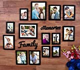 #5: Beautiful Family memories set of 14 individual wall photo frame (6-6x8, 6-4x6, 2-8x10) with MDF plaque (Family and Memories)