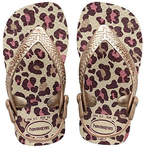 Havaianas Chic, Chaussures Marche Bébé Fille, Multicolore (Shocking Beige/Rose Gold 8430), 25/26 EU