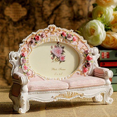 XBR Sofa de jardin Resina Marco Europeo _ oferta especial Creative delicado tallado resina Jardin 5...