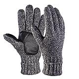 Vbiger Winter Handschuhe Warme Handschuhe Baumwolle Damen Frauen Handschuhe, Stil 2 Grau(l), One Size