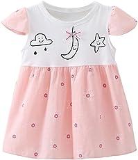 Chinatera Girl's Tutu Dress One Piece Cotton Dress Prints