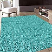 f3c37a3ac38399 Teppich,Fußmatten Teppich 300CM*419CM,Elfenbein und  Blau,Flickenteppich,Oriental Doodle
