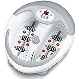 Beurer FB 50 Elektrisk Fotbad med Uppvärmning, Massage och Ljusterapi, Vit/Grå