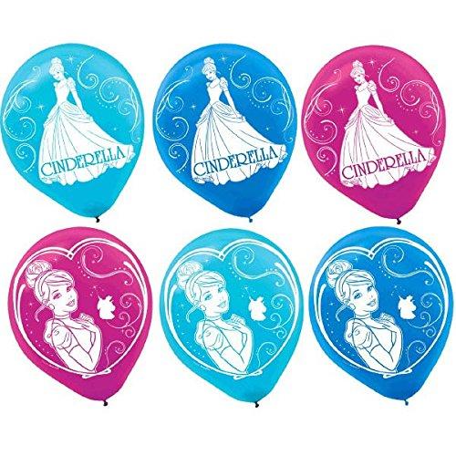Disney Cinderella Printed Latex Birthday Party Balloons Decoration , Multi Color, 12. by TradeMart Inc.