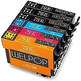 WELPOP 29xl cartuchos de tinta reemplazo para Epson 29 xl, (6 Pack) compatible para Epson expression home XP-235 XP-335 XP-245 XP-432 XP-332 XP-247 XP-342 XP-435 XP-442 XP-345 XP-445 Impresora