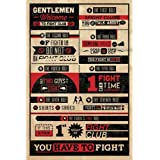 Poster - Poster Fight Club Rules Infographic (in 61 cm x 91,5 cm)