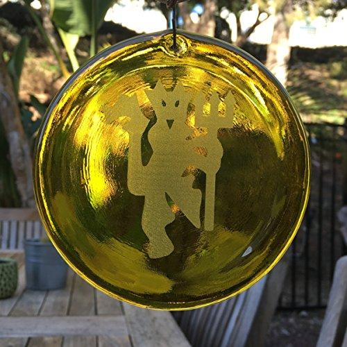 ester Devil Suncatcher aus unserer Fußball Kollektion-Made in den USA. Ein großartiges Geschenk Für Jeden. Colorful Sonnenfänger bringen ein Zimmer oder View to Life. gelb ()