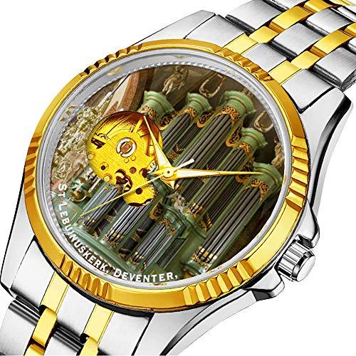 Mechanische Uhr Herrenuhr Klassische mechanische Uhr Timeless Design Mechanic (Gold) 423.Deventer Orgel