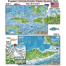 U.S. Virgin Islands Map for Scuba Divers and Snorkelers