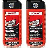 2x 500ml SONAX POLISH & WAX COLOR NANOPRO ROT AUTOPOLITUR LACK AUTO POLITUR