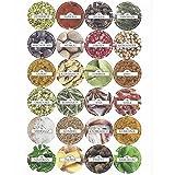Viva-Haushaltswaren 24 runde Gewürzetiketten Aufkleber für Gewürze - selbstklebend