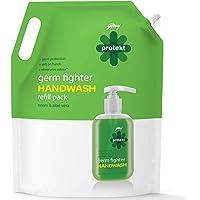Godrej Protekt Germ Fighter Handwash Refill, Neem & Aloe Vera - 1.5 Litre
