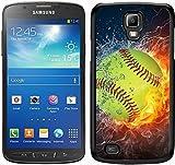 Softball Fire und Ice 1schwarz für Samsung Galaxy S4Active Handy Fall