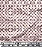 Soimoi Rosa schwere Leinwand Stoff geometrischer Stern