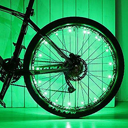 Preisvergleich Produktbild Rokoo 1 stück fahrrad rad led-leuchten auto ultra helle wasserdichte bunte speichen licht string radfahren reifen zubehör