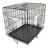 WilTec Cage de Transport Pliable en Fil métallique Petits Animaux Caisse de Transport métallique...